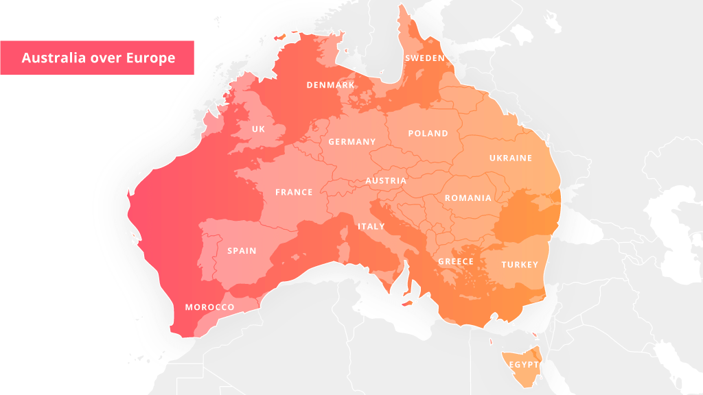 Map Of Australia On Europe.23 Things You Should Know Before Moving To Australia Movehub