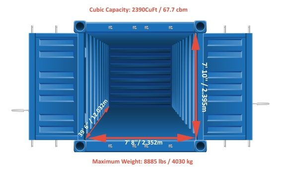 40 Foot Shipping Containers Loading Dimensions Movehub
