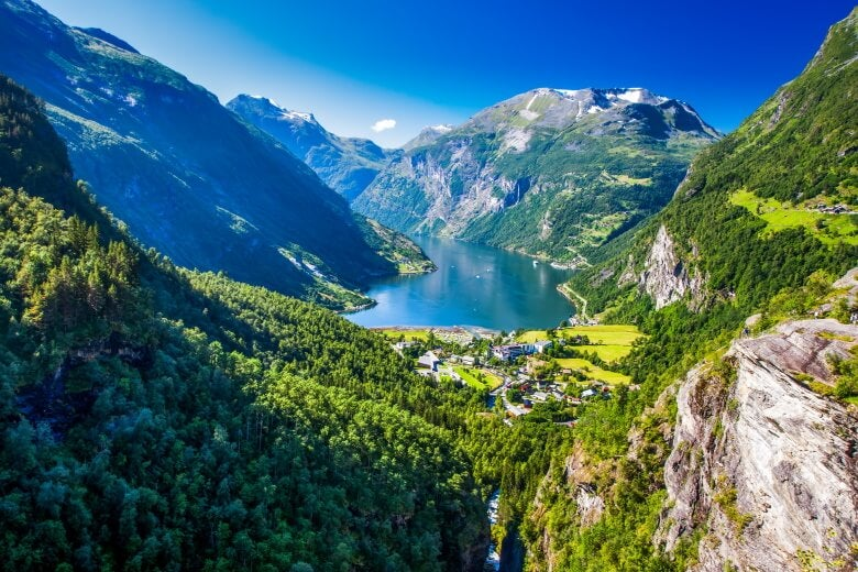 a view of Geirangerfjord, Norway