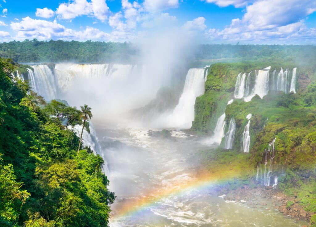 The Iguaçu Falls in Brazil