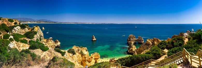 view of the sea at the Algarve