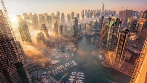 a view of Dubai's skyscrapers