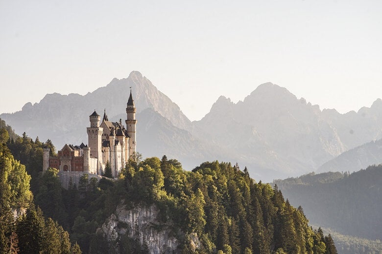Germany castle in countryside