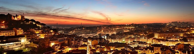 view of Lisbon at sunset