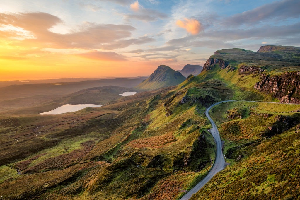 Mountains in Scotland at sunrise