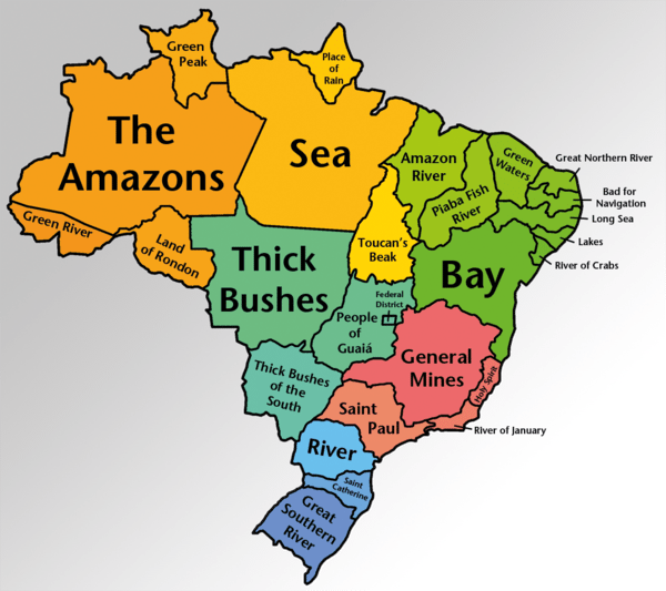 Brazilian states by the literal meaning of their name movehub brazilian state names translated literally into english gumiabroncs Images