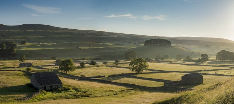 A panoramic view of Wensleydale, North Yorkshire