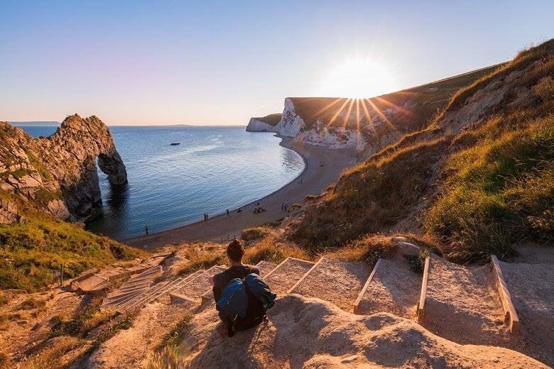 UK Durdle Door coastline