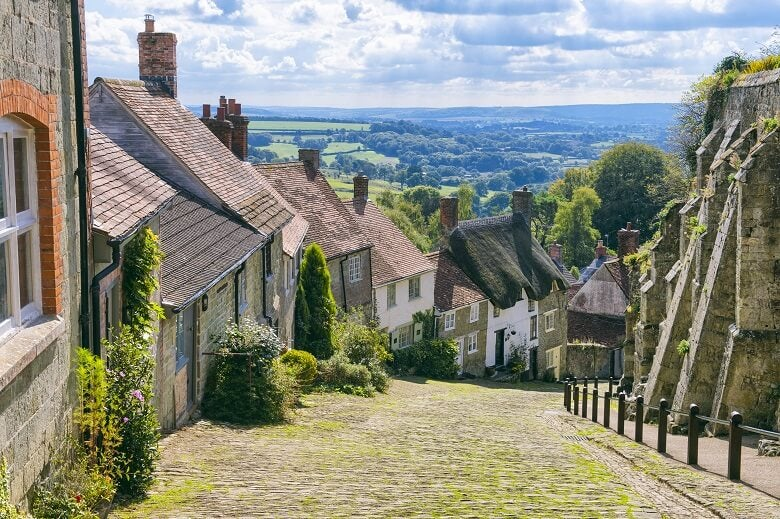 UK village in countryside