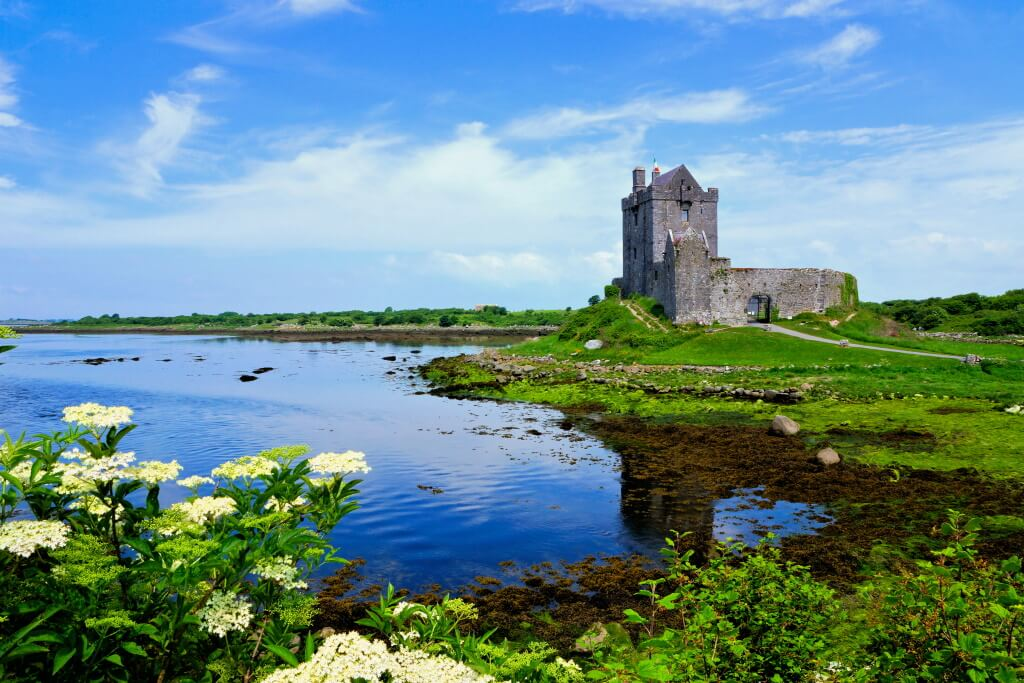 Dunguaire Castle in Galway, Ireland