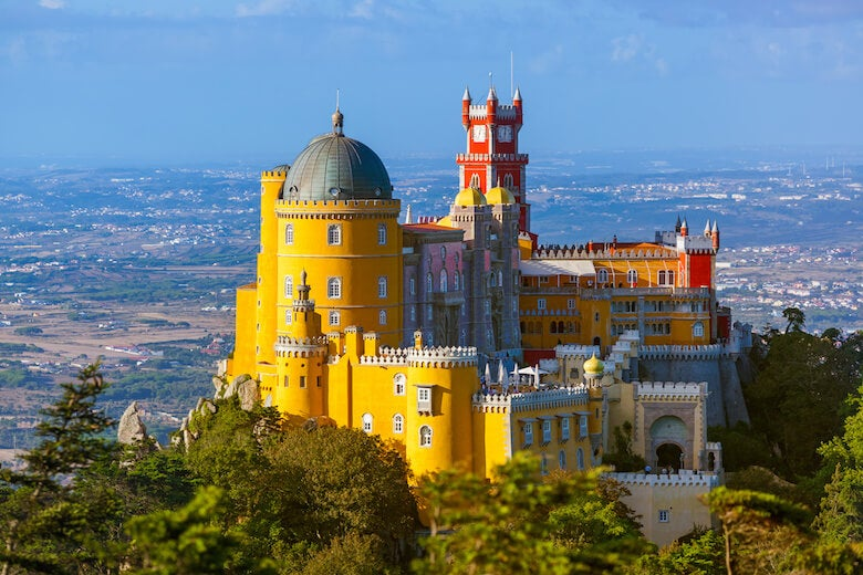 pena palace in portugal