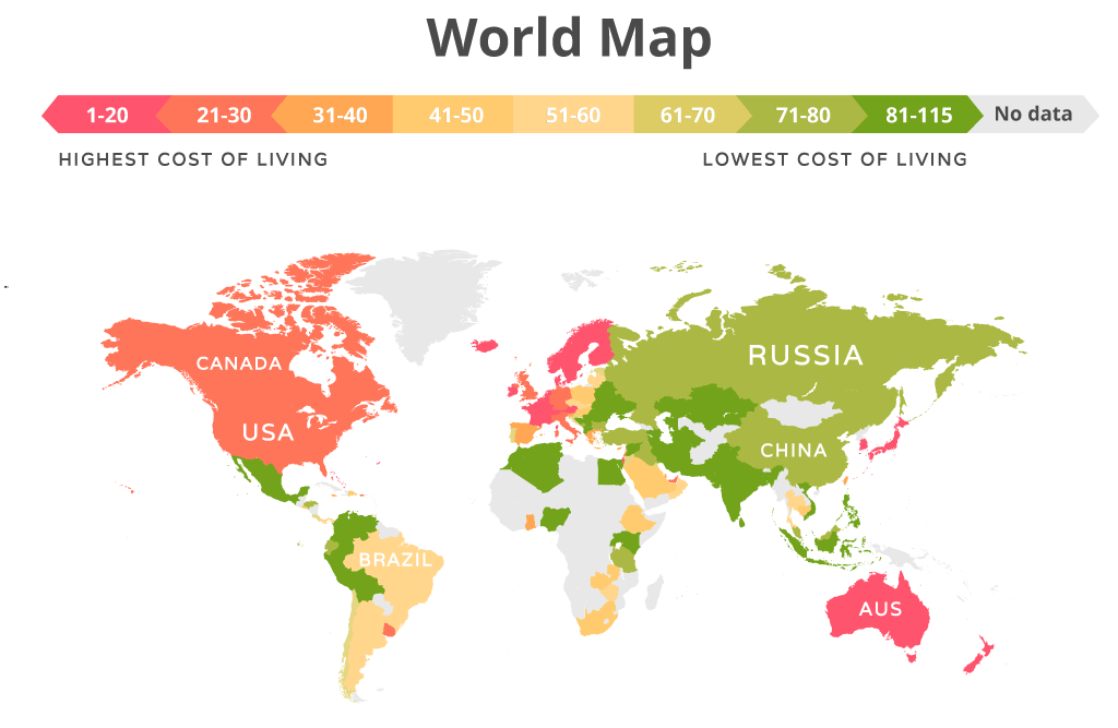 Cost Of Living Around The World 2018 Movehub