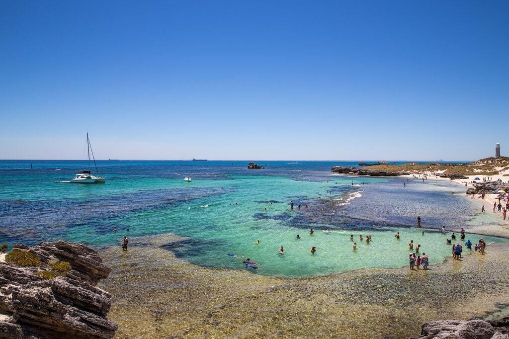 The beach on Rottnest Island, Perth