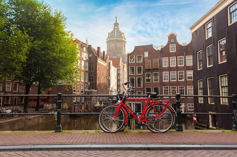 A bicycle in Amsterdam