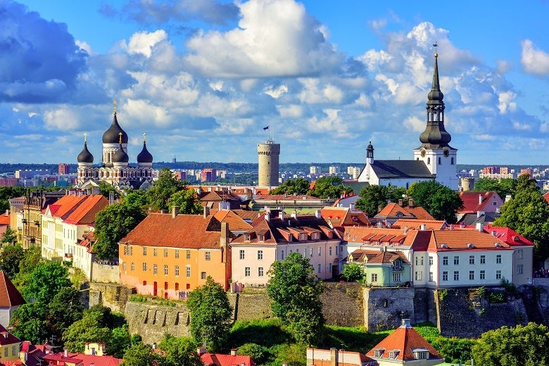 The Tallinn cityscape