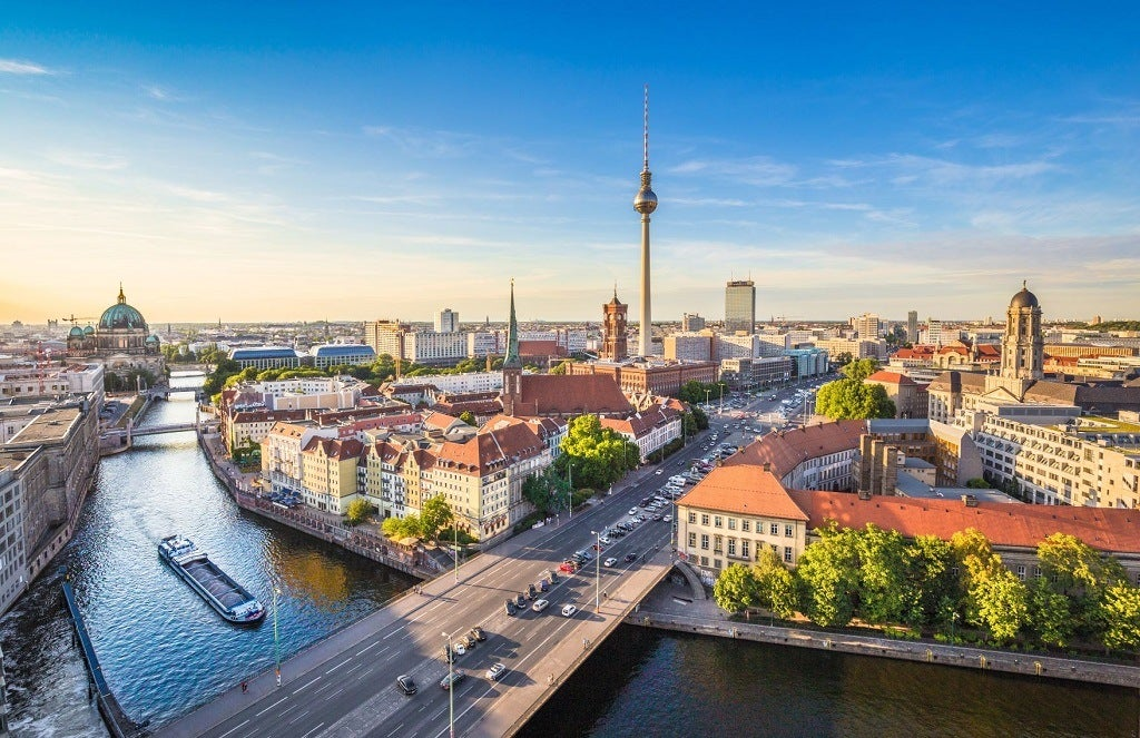 The River Spree and the TV Tower in Berlin