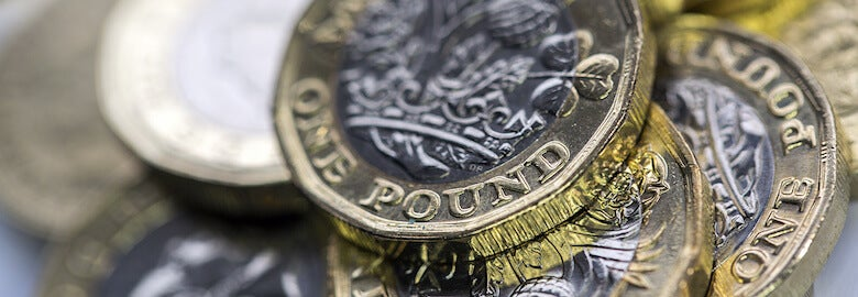 close up picture of new british pound coins