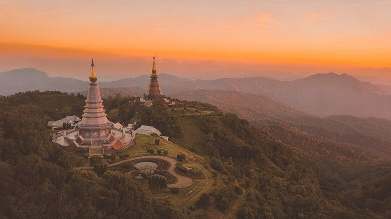 view of thailand at sunset