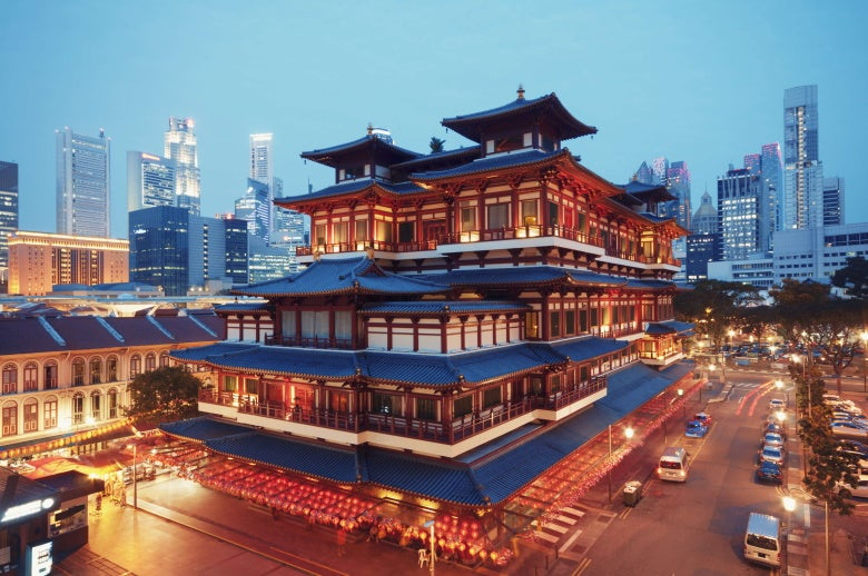 Buddha Toothe Relic Temple in Singapore