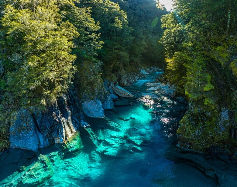 Blue Pools, Haast Pass, New Zealand, South Island