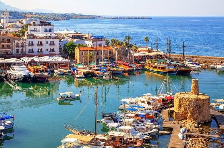 boat on docks in sunny Cyprus