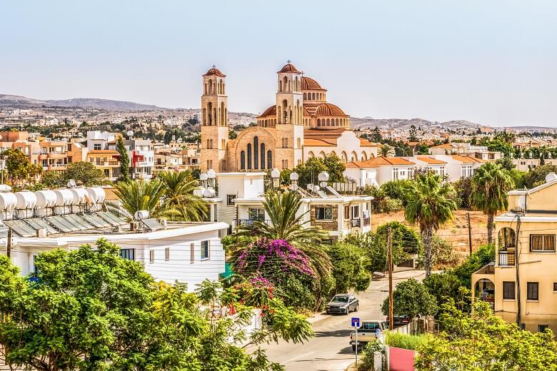 a view of small town Paphos