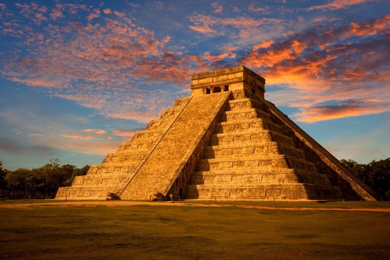 El Castillo, also known as the Temple of Kukulcan, at Chichen Itza