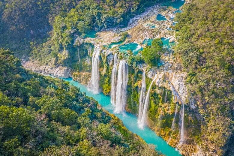 Tamul waterfall at Huasteca Potosina in San Luis Potosi, Mexico