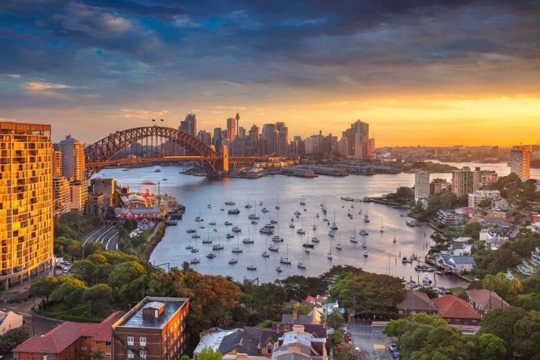 a view of Sydney in Australia