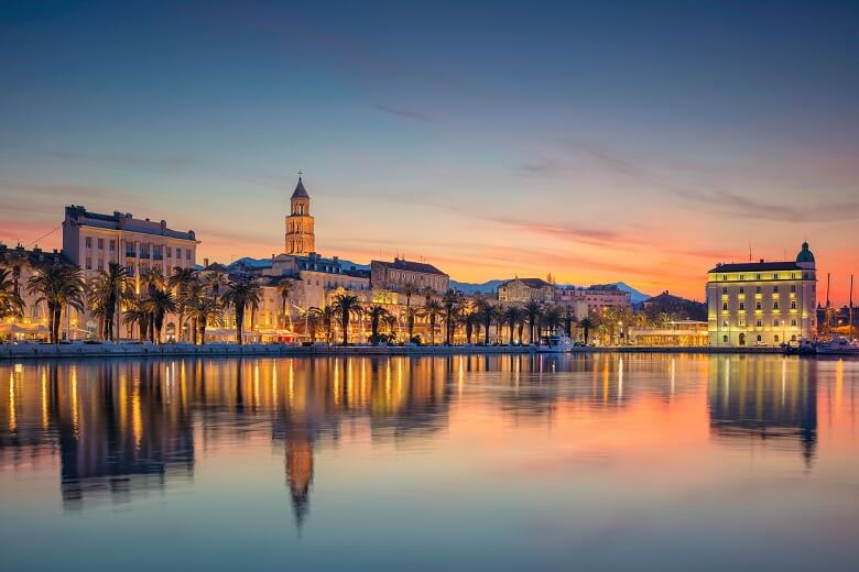 a view of Split in Croatia