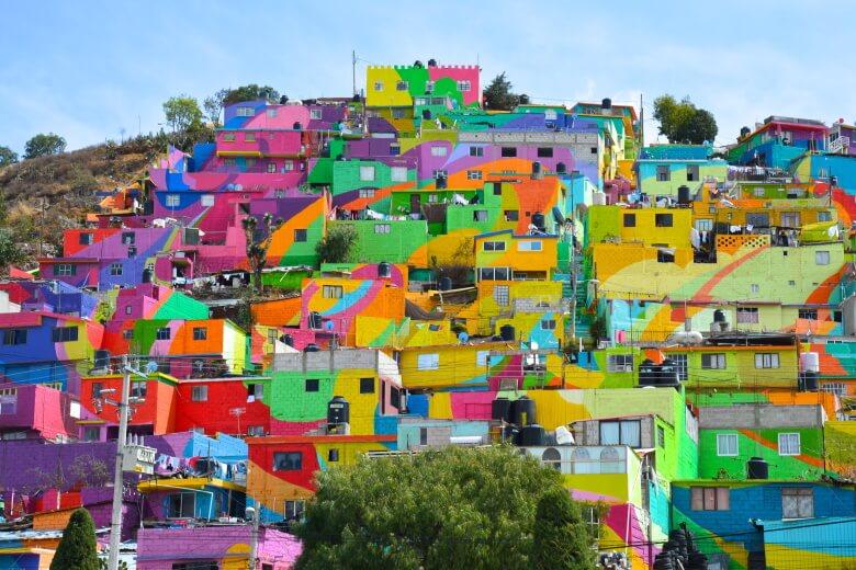 Houses in Pachuca's Las Palmitas neighborhood
