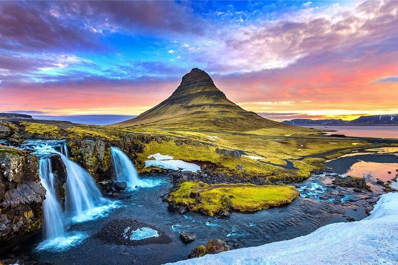 A view of Icelandic countryside