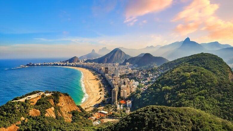 view of Brazilian beach