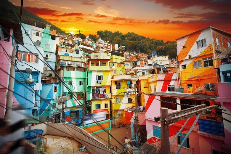 Painted houses in Brazil