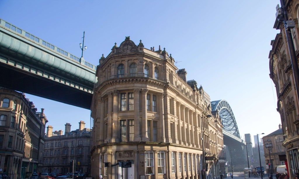 the Tyne Bridge and Queen's Street in Newcastle