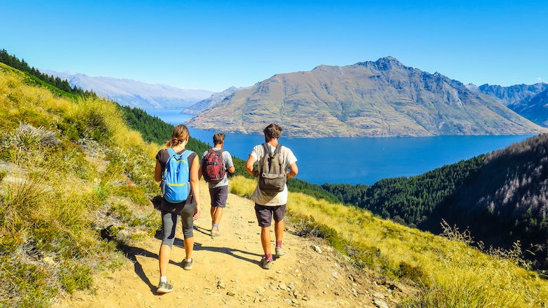 people hiking in new zealand