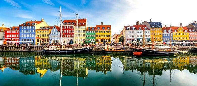 Colourful houses in Denmark