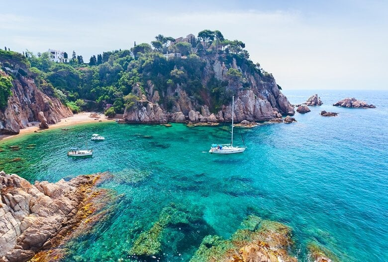 A view of the Spanish coast