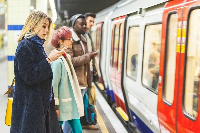 People commuting on London Underground