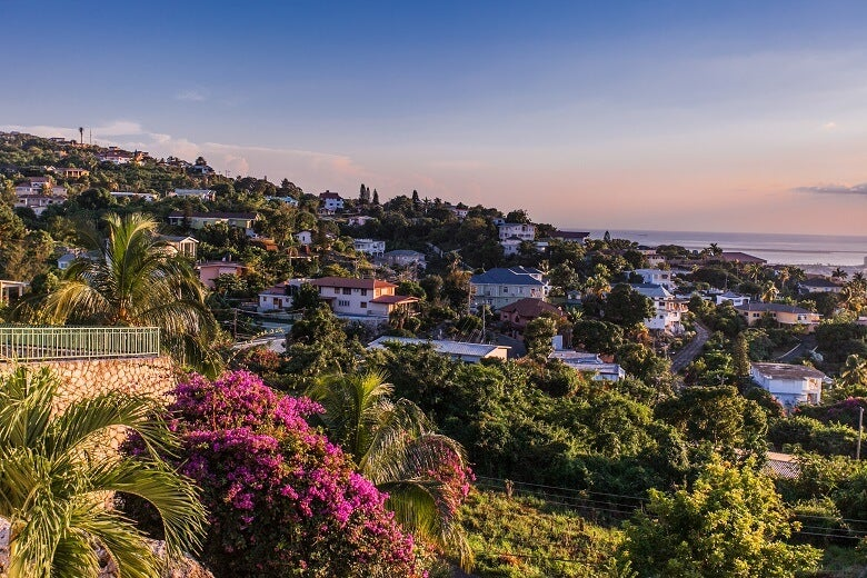 Kingston in Jamaica at sunset