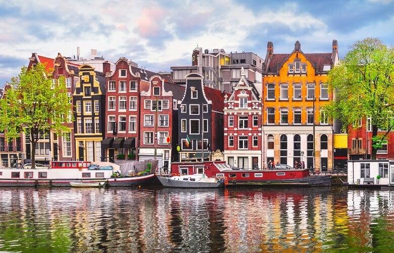 Houses near Amsterdam canal