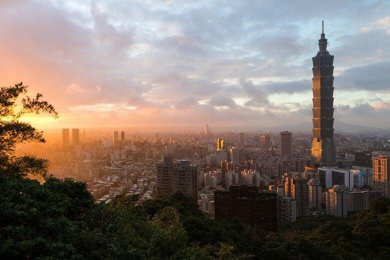 Sunset in Taipei, Taiwan