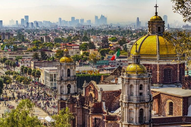 The cityscape of Mexico City