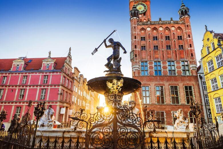 fountain in gdansk, poland
