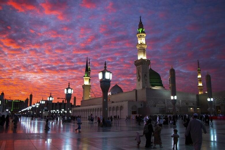 Al-Masjid an-Nabawi mosque, in saudi arabia