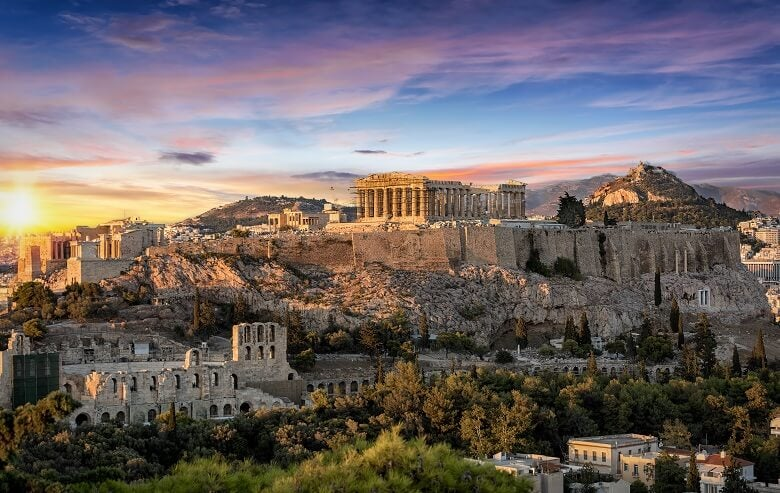 A view of Athens in Greece