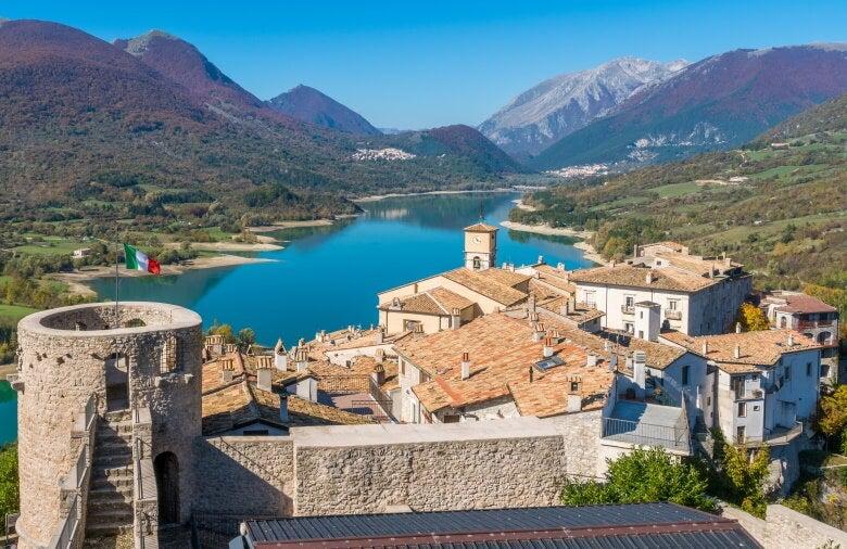 a village in abruzzo, italy